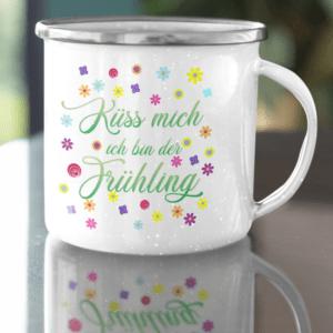 Gift enamel cup printed