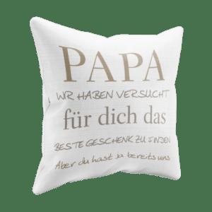 Geschenk Kissen Papa