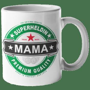 Tassenansicht Superheldin Mama
